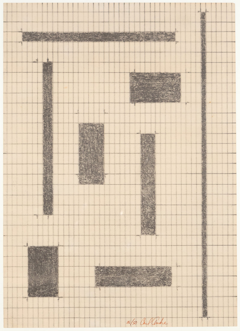 Carl Andre, Equivalents, Lithography, 1968, Caviar 20