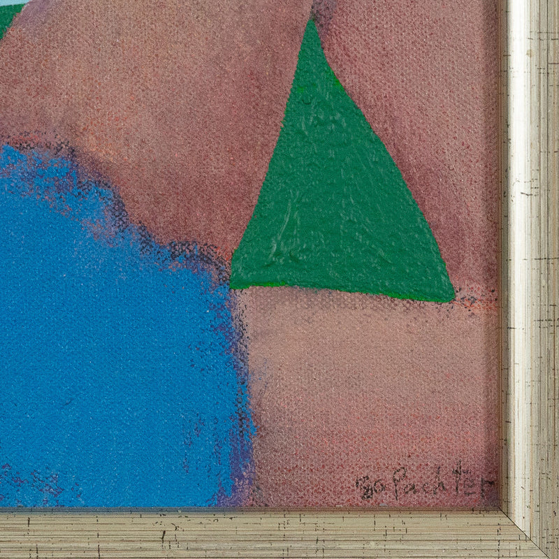 Charles Pachter, Bather, Painting, Acrylic on Canvas, 1980, Caviar20, close-up showing artist signature