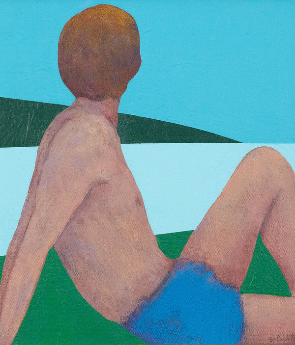 Charles Pachter, Bather, Painting, Acrylic on Canvas, 1980 Caviar20