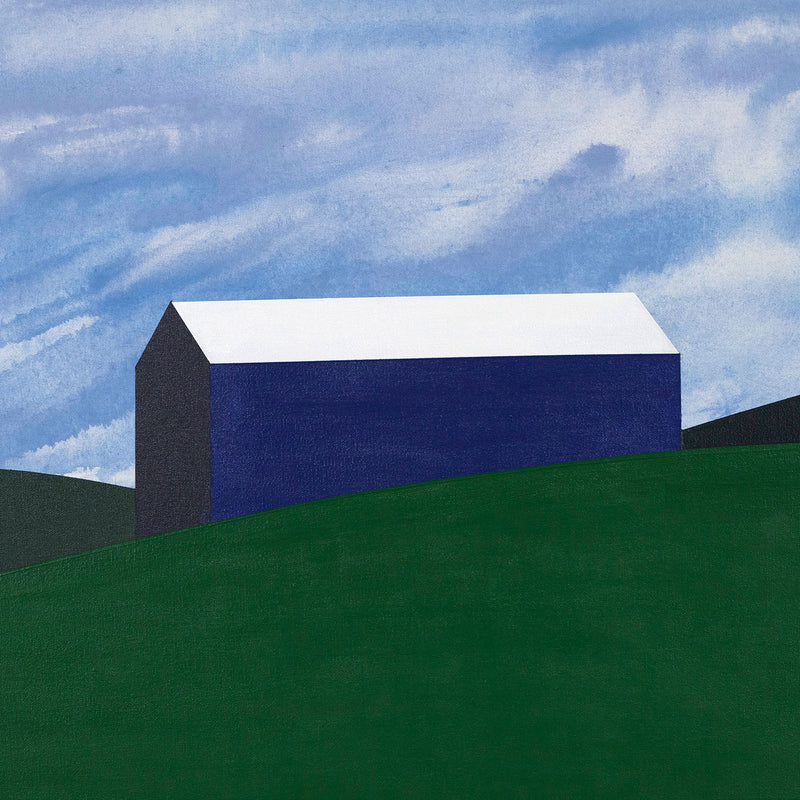 Caviar20 Charles Pachter Blue Barn painting