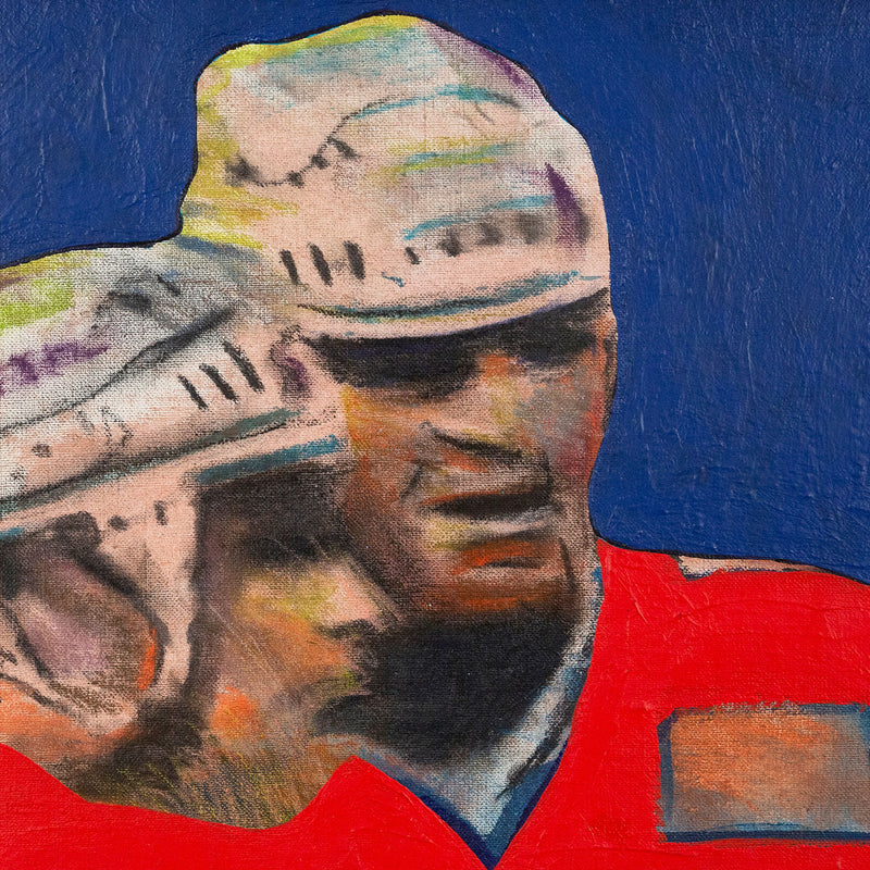 Charles Pachter, Hockey Knights, painting, 1986 Caviar20, close-up