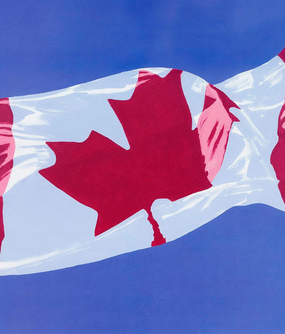 "CHARLES PACHTER ""PAINTED FLAG: HORIZONTAL BLUE"" 1981"