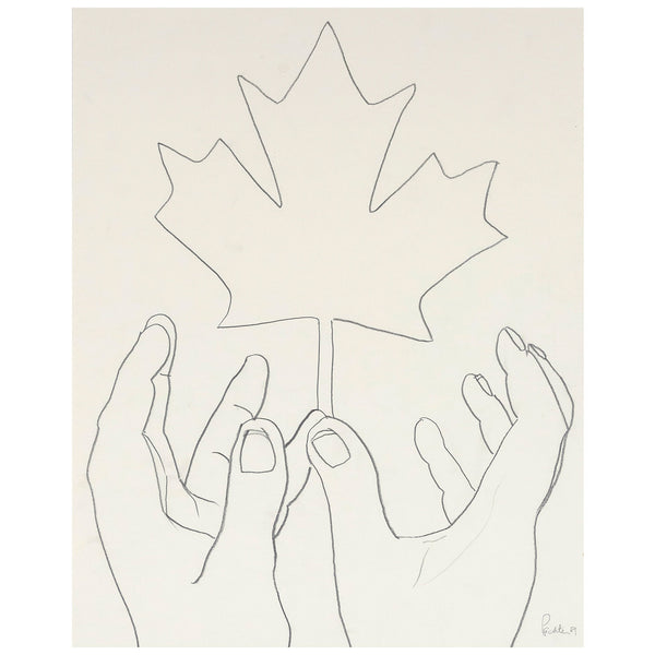 Charles Pachter drawing canadian leaf Caviar20 canada symbol