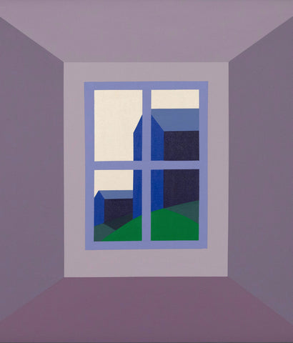 "CHARLES PACHTER ""ORO BARNS"" PAINTING, 1989"