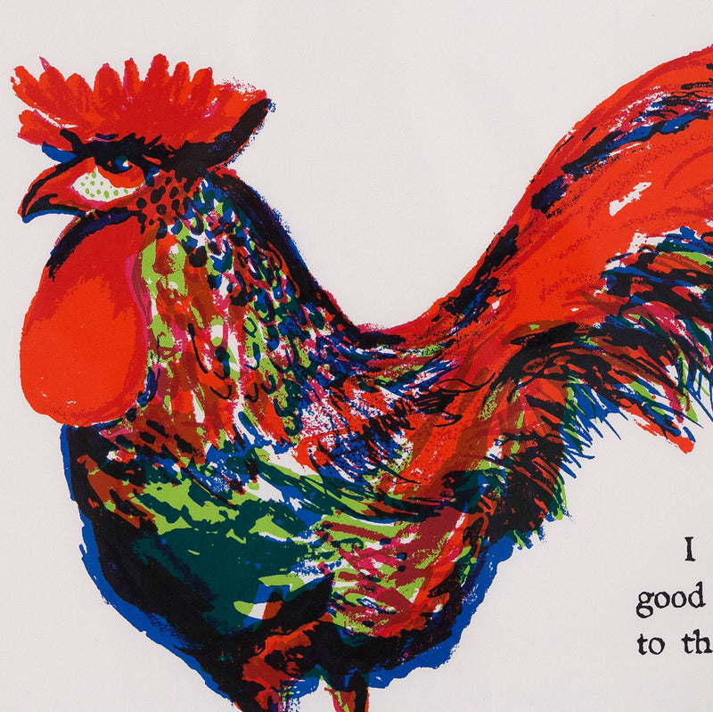 "CHARLES PACHTER ""ROOSTER"" 1965"