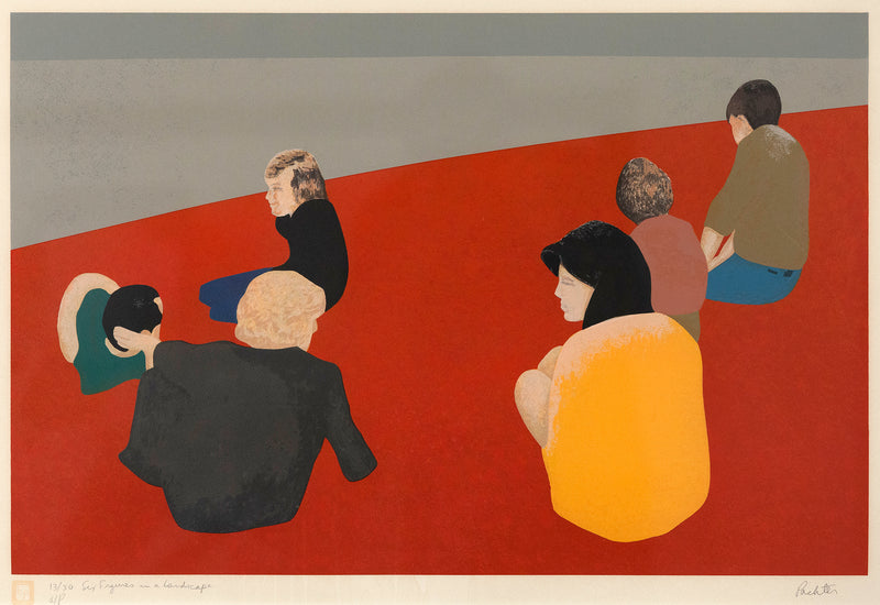 Charles Pachter Six Figures in the landscape 1978