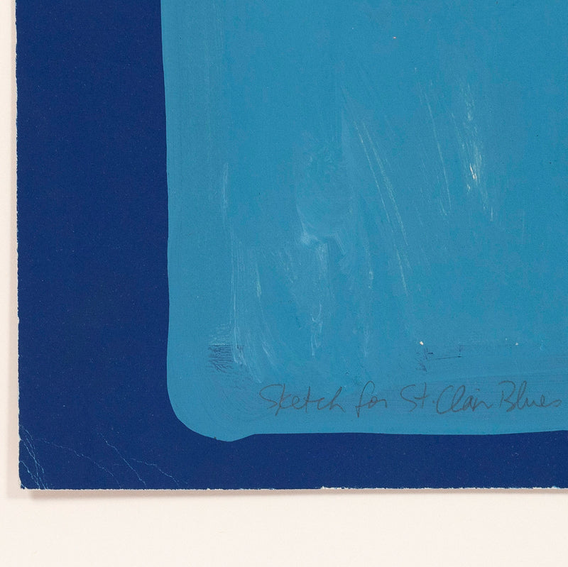 "CHARLES PACHTER ""BLUE CARS"" MONOTYPE, 1972"