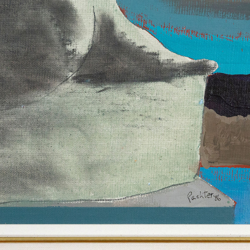 Charles Pachter, Statuesque, Painting, 1980, Caviar 20, close-up showing artist signature