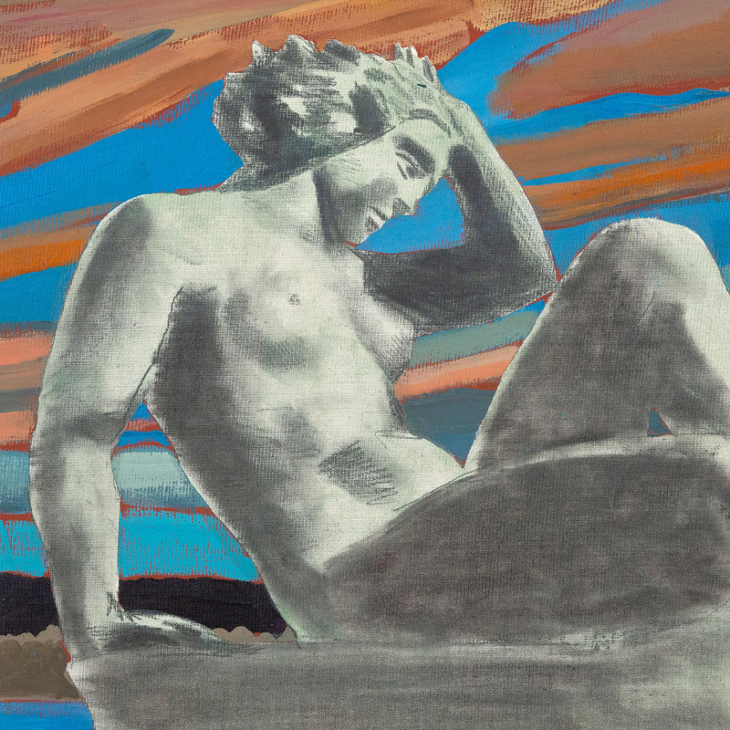 Charles Pachter, Statuesque, Painting, 1980, Caviar 20, close-up
