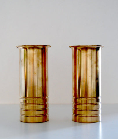 "CHASE PAIR OF ""BULLET VASES"""