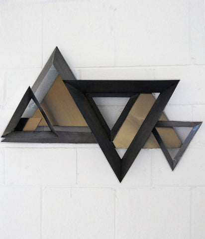 "CURTIS JERE ""TRIANGLES"" WALL SCULPTURE"