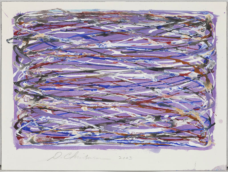 Dan Christensen Violet Loops 2003 works on paper Caviar20