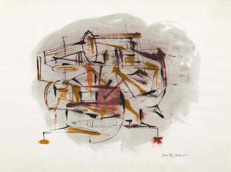Dorothy Dehner Untitled 1954 watercolor Caviar20