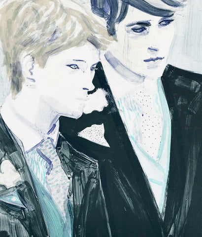 "ELIZABETH PEYTON ""WILLIAM AND HARRY""LITHO,  2000"