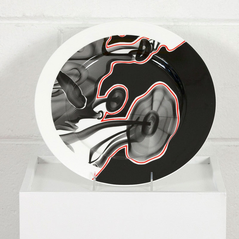 Frank Stella Vortex Charger multiple Caviar20 plate