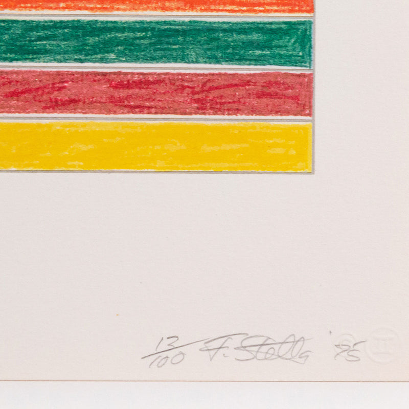 "FRANK STELLA ""FURG"" SCREENPRINT, 1975"