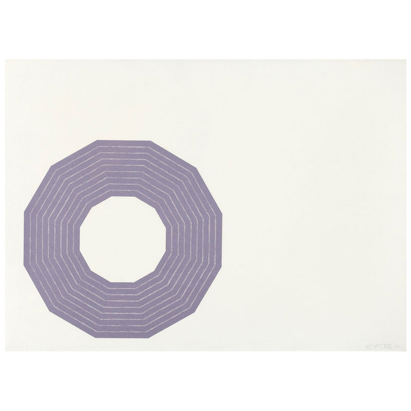 Frank Stella Kay Bearman from the Purple Series Lithograph Caviar20