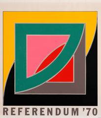 "FRANK STELLA ""REFERENDUM 70"" SCREENPRINT, 1970"