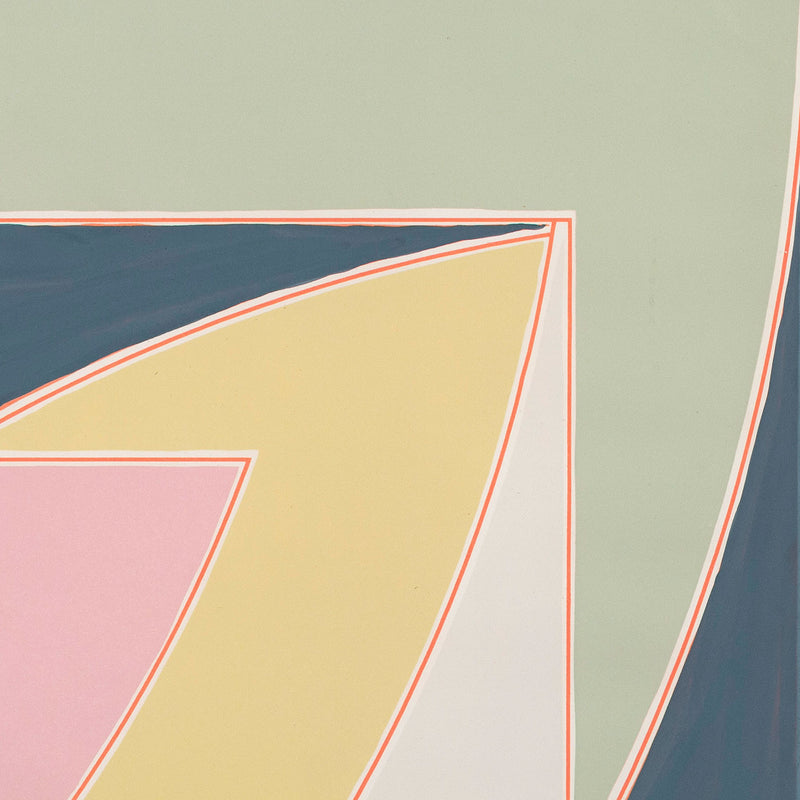 "FRANK STELLA ""RIVER OF PONDS"" MONOTYPE, 1970"