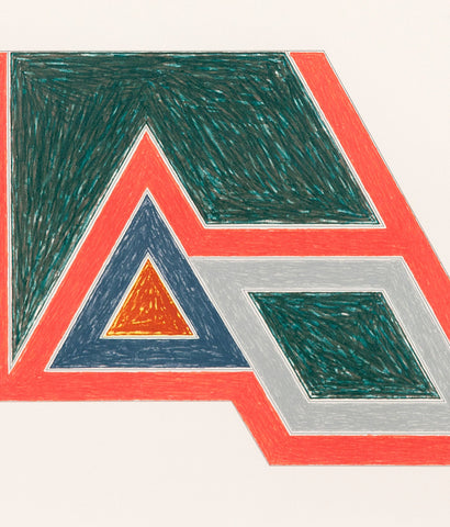 "FRANK STELLA ""ECCENTRIC POLYGON"" SCREENPRINT, 1974"