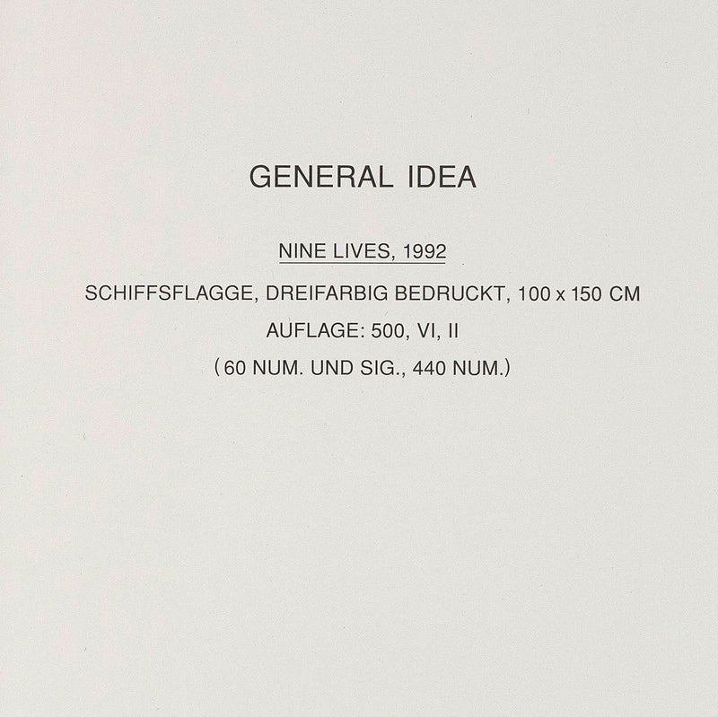 General Idea multiples Nine Lives 1992 Caviar20 editions
