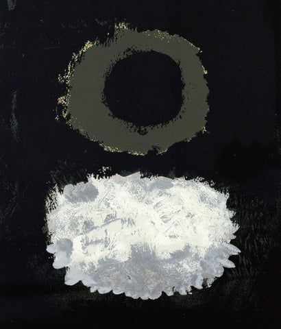 "ADOLPH GOTTLIEB ""BLACK FIELD"" SILKSCREEN, 1972"