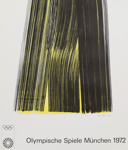 "HANS HARTUNG ""MUNICH OLYMPICS"" SIGNED POSTER, 1972"