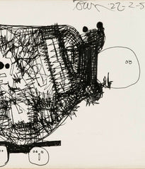 "HAROLD TOWN ""GO-CART"" INK DRAWING, 1954"