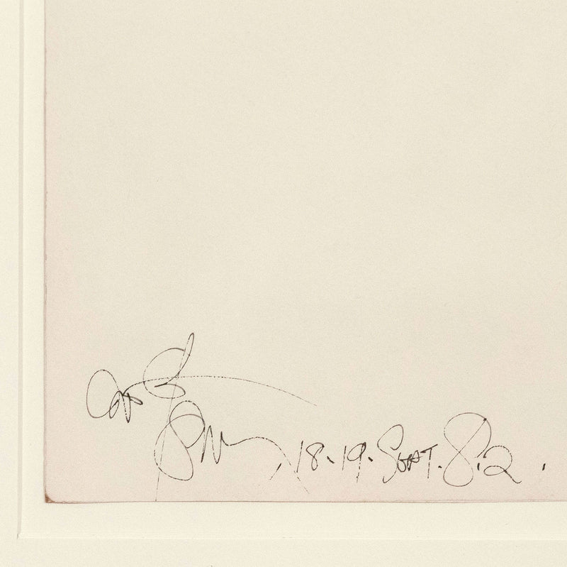"HAROLD TOWN ""TOY HORSE #179"" DRAWING, 1982"