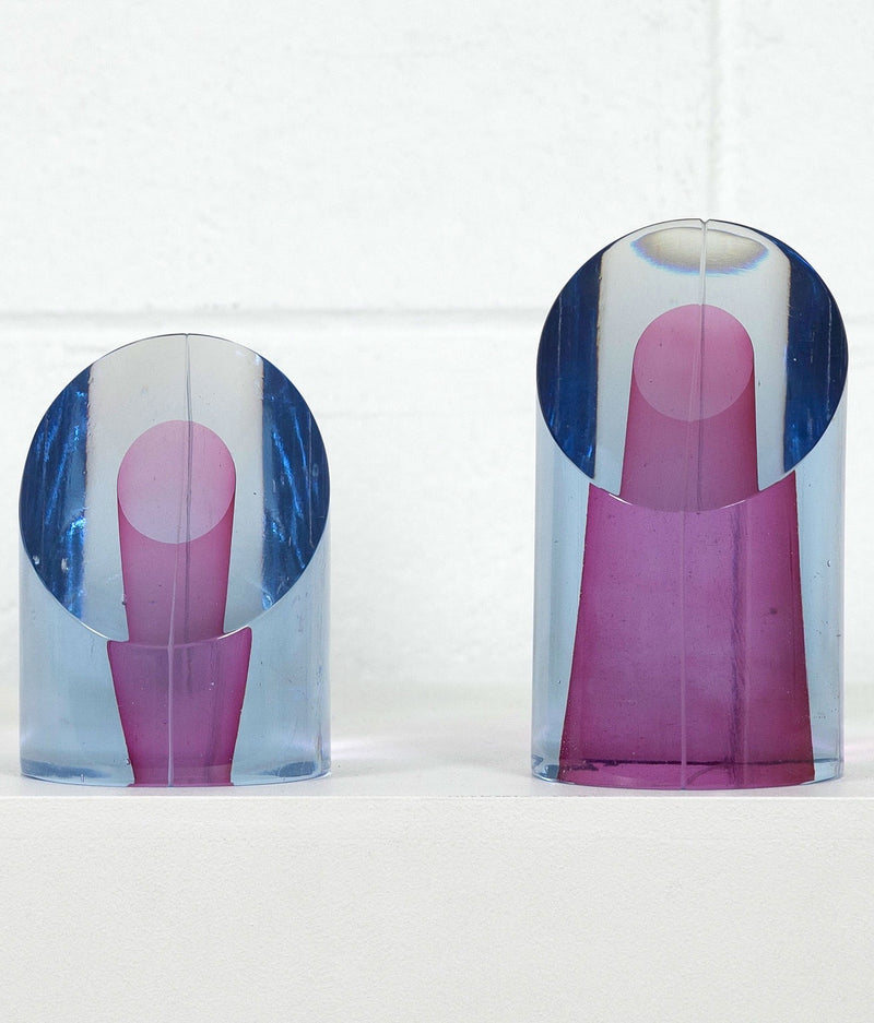 "HARVEY LITTLETON ""CYLINDRICAL SECTIONS 45"" GLASS, 1979"