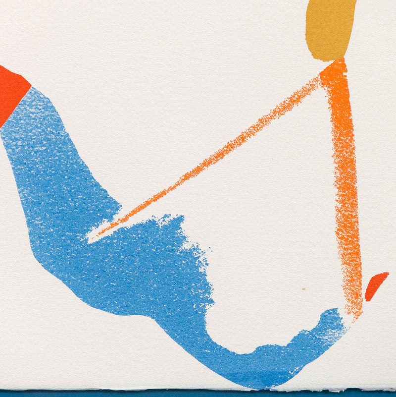 "HELEN FRANKENTHALER ""RED LINES A"" SCREENPRINT, 1970"