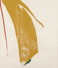 "HELEN FRANKENTHALER ""RED LINES (GOLD BRUSH)"" SCREENPRINT, 1970"