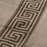 "LARGE INTERCONTINENTAL ""GREEK KEY"" WOOL BLANKET"