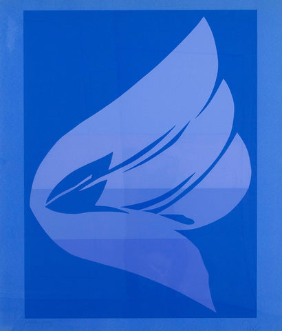 "JACK YOUNGERMAN ""BIG BLUE"" SCREENPRINT, 1978"