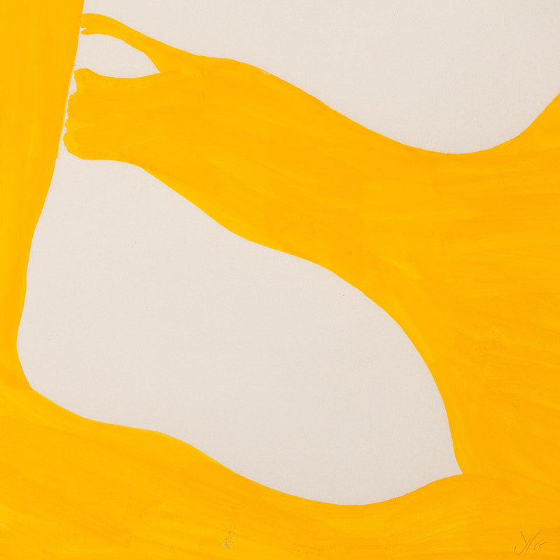 "JACK YOUNGERMAN ""TANGERINE - UP"" GOUACHE, 1965"