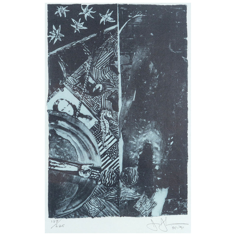 Jasper Johns, Summer Blue, Lithograph, 1991, Caviar20,  Caviar20 prints