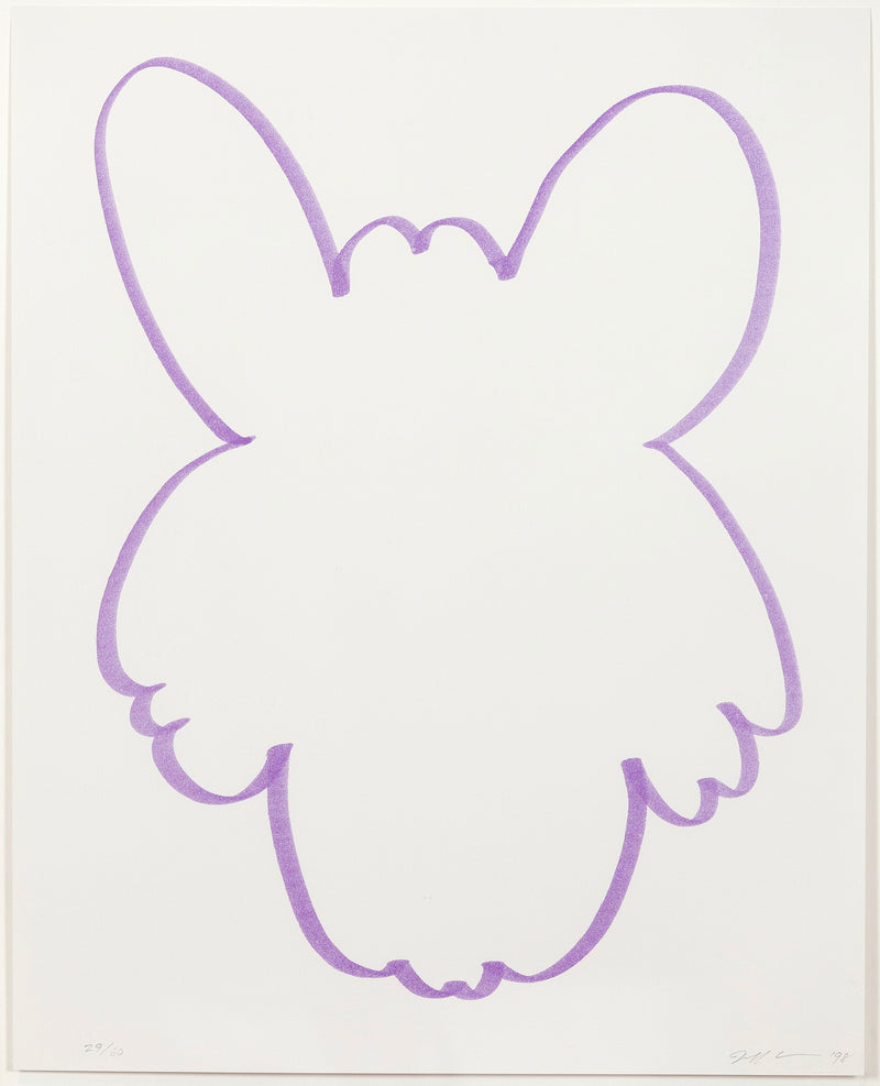 "JEFF KOONS ""PURPLE FUN"" LITHO, 1998"