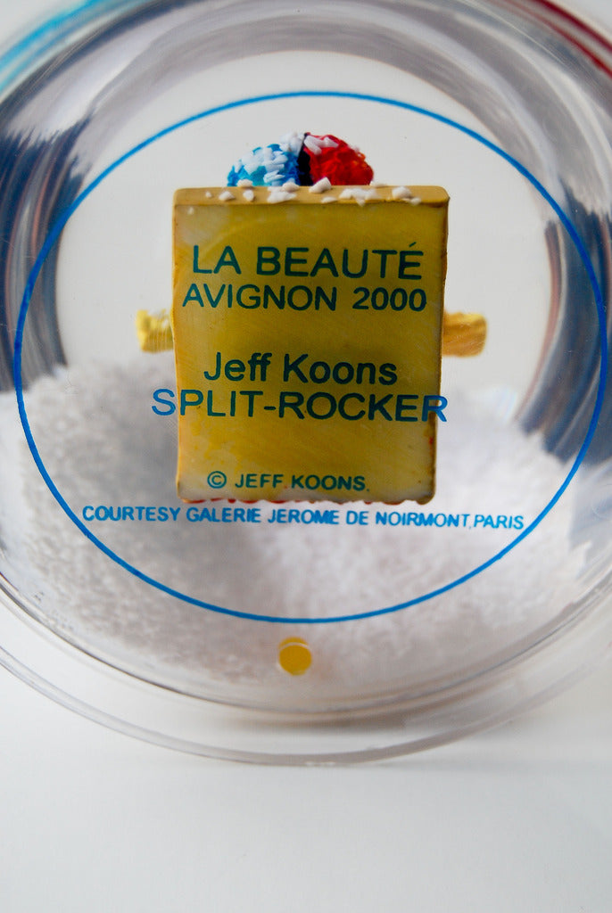 "JEFF KOONS ""SPLIT ROCKER"" MINI SCULPTURE, 2000"