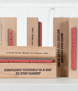 Jenny Holzer multiples Caviar20 Walker stamps 1991
