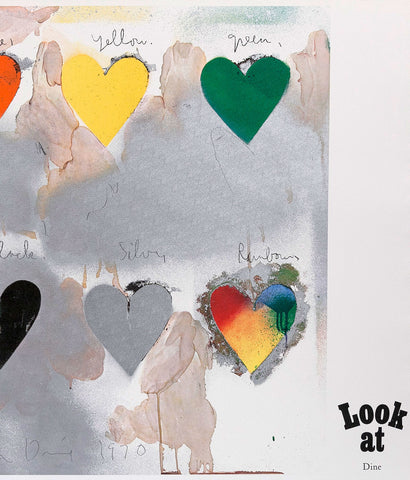 "JIM DINE ""8 HEARTS / LOOK"" LITHO, 1970"