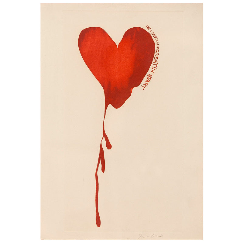 "JIM DINE ""SATIN HEART"" AQUATINT, 1968"