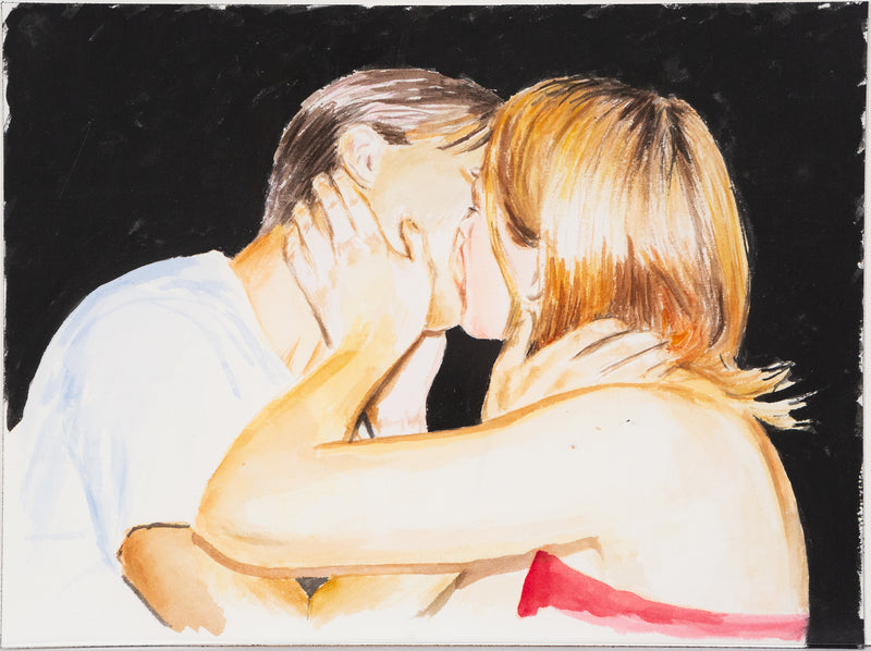 Joanne Tod, Make Out, Watercolor, 2020, Caviar20 Canadian Art