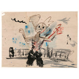 "JOHN SCOTT ""BUNNY MAN"" MIXED MEDIA ON PAPER, 1994"