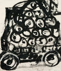"JOHN SCOTT ""WAGON"" MIXED MEDIA ON PAPER, 1994"