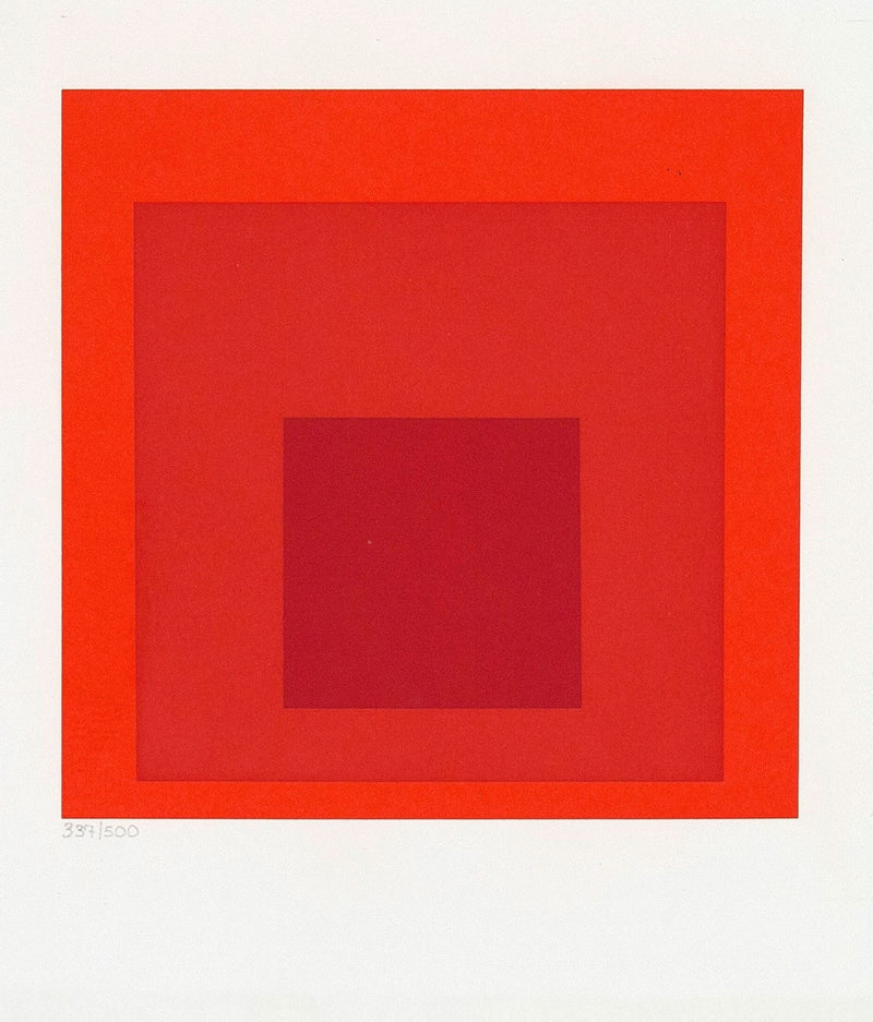 Josef Albers red homage square prints Caviar20
