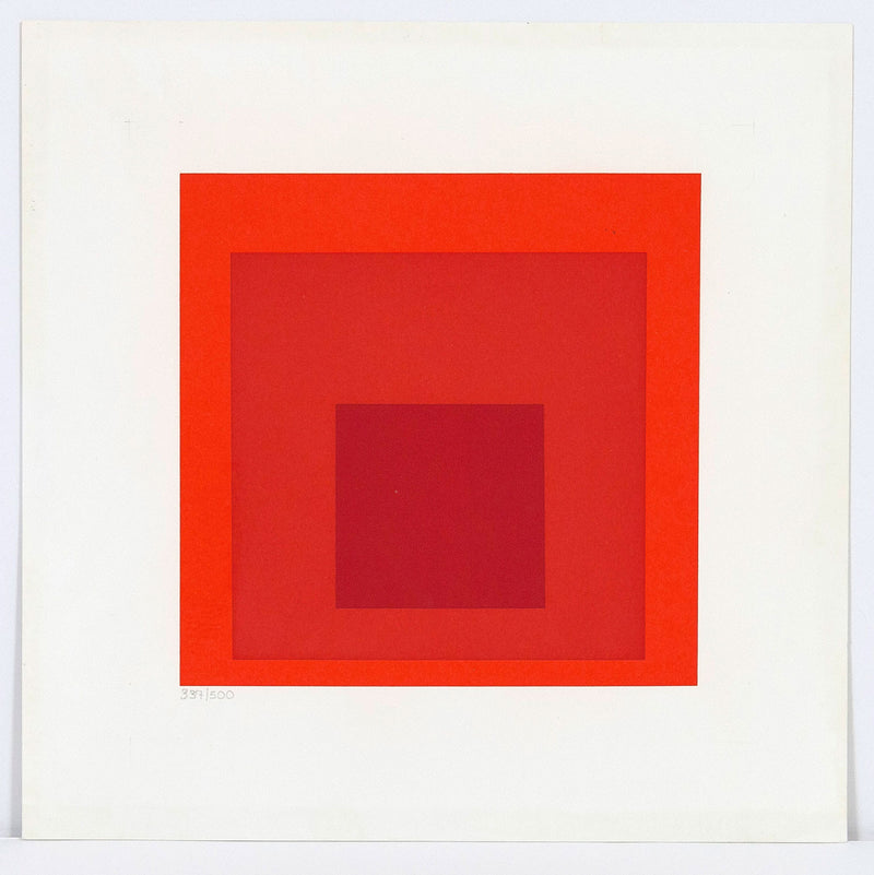 Josef Albers red square prints Caviar20