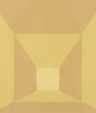 "JOSEF ALBERS ""MITERED SQUARES - BUTTER"" SCREENPRINT, 1976"