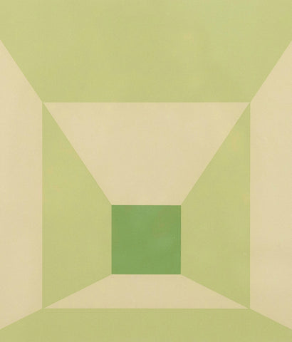 "JOSEF ALBERS ""MITERED SQUARES -LIME"" SCREENPRINT, 1976"