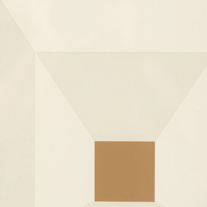 "JOSEF ALBERS ""MITERED SQUARES - MAHOGANY"" SCREENPRINT, 1976"