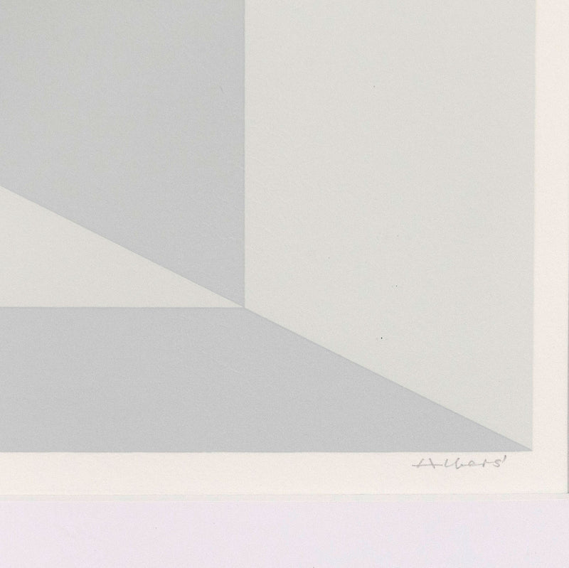 "JOSEF ALBERS ""MITERED SQUARES - FOG"" SCREENPRINT, 1976"